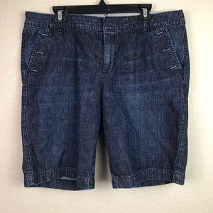 Gap 16 Button Pocket Denim Bermuda Jean Shorts